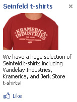 Facebook Seinfeld T-Shirt Ad - Could ads like this one day appear on publisher sites in an adsense-style network from Facebook?
