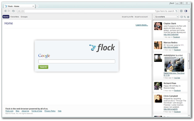Flock Home Page