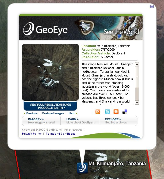GeoEye on Google Earth