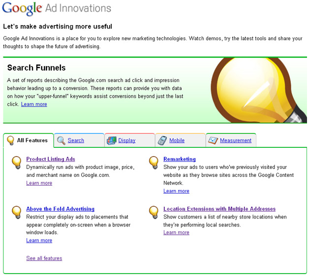 Google Ad Innovations site launched