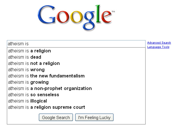 Google - Atheism is