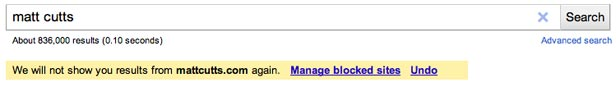 Block Domains in Google Search Results