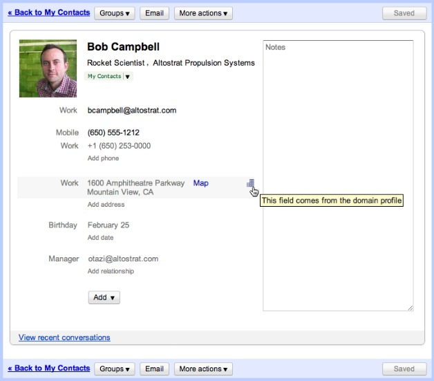 Google Updates Contacts for Google Apps Users