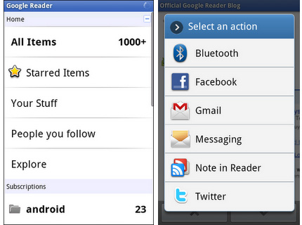 Google Reader Comes to Android