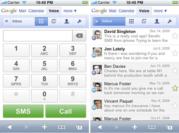 Google Voice Makes Way to iPhone, Palm WebOS