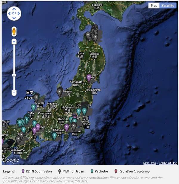 Japan Radiation Map