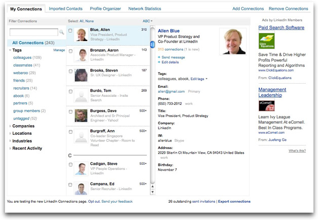 LinkedIn to Roll Out Changes to Address Book