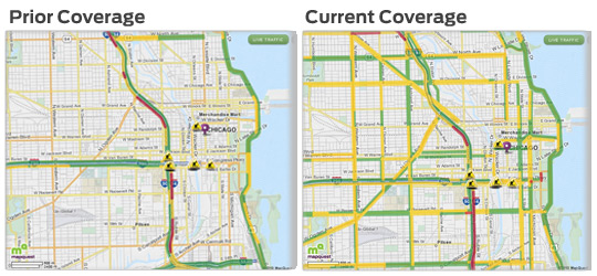 MapQuest's Live Traffic Coverage - Before and After