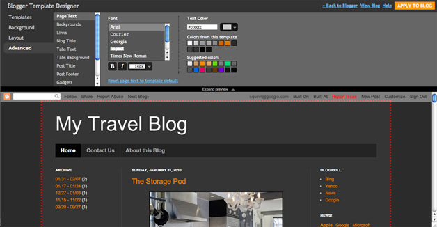 Blogger Template Designer - a new way to customize the design of your Blogger blog