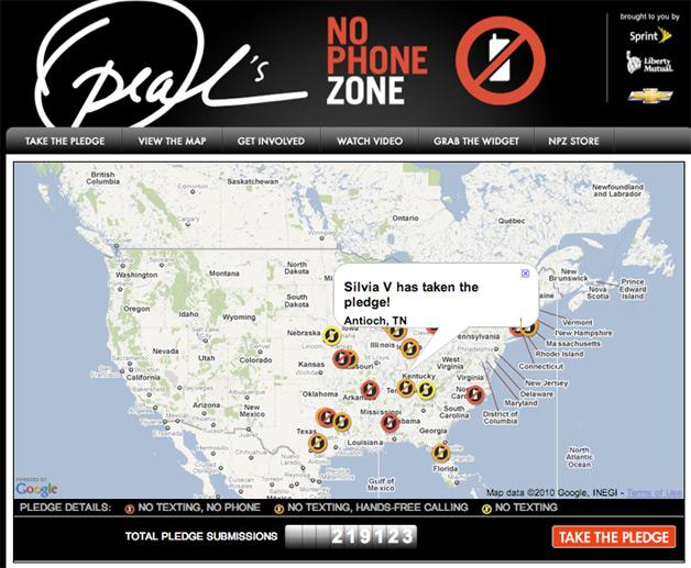 Google Maps No Phone Zones