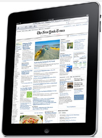 New York Times on iPad - Would you support taxes on consumer electronics like the iPad to save journalism?