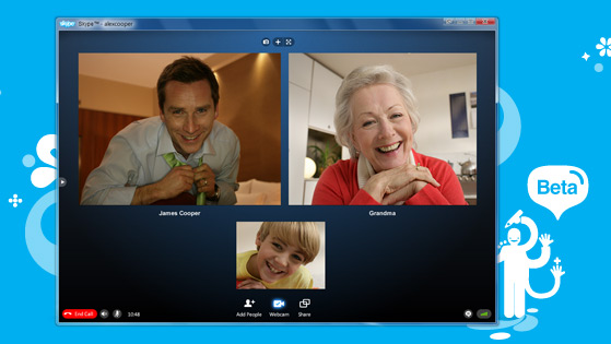 Skype Video Calling with up to ten people