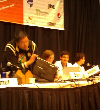 Social Search panel at SXSW (with Max Ventilla toward the right)