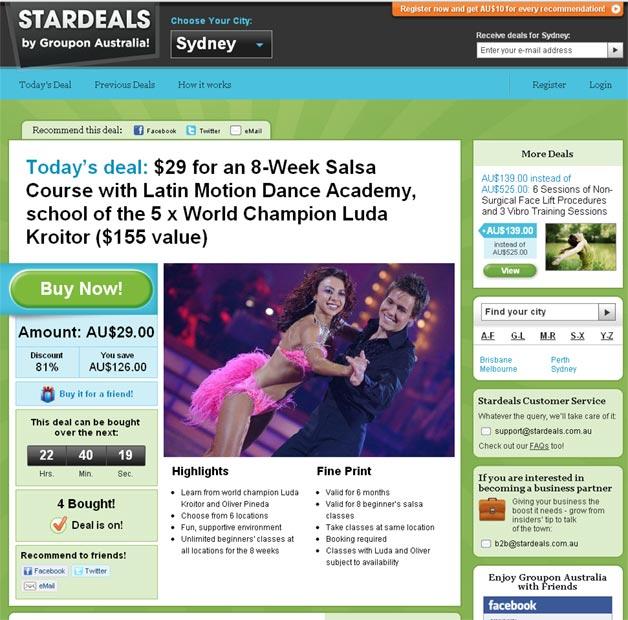 Stardeals - The Australian Groupon