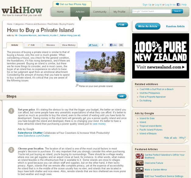 How to buy a private island - on wikiHow