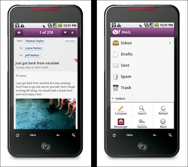 Yahoo Releases First Ever Android Apps