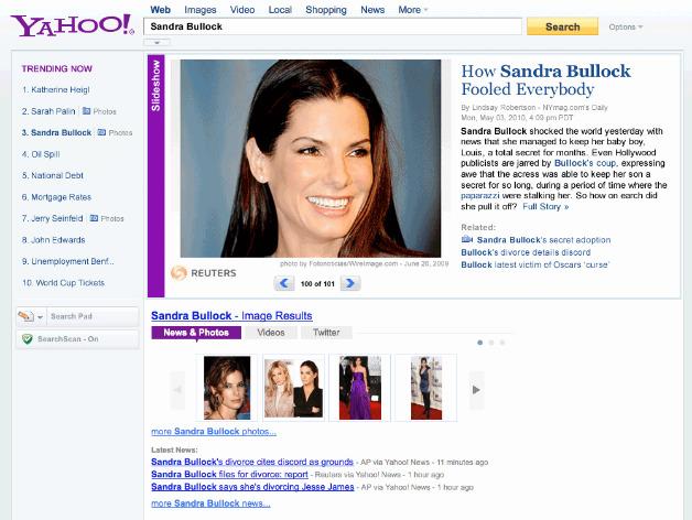 Yahoo Sandra Bullock Search