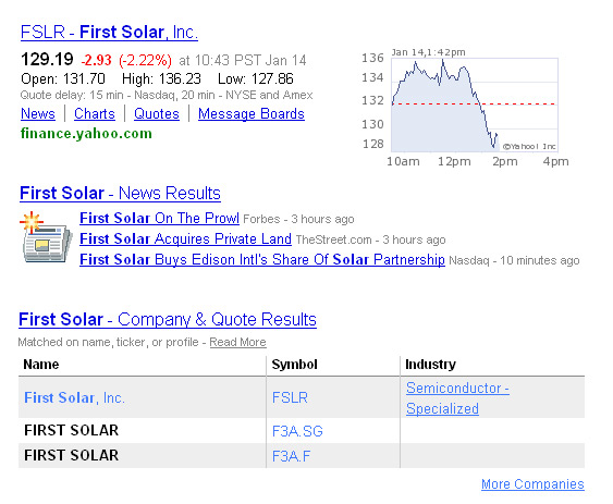 Yahoo Finance Search