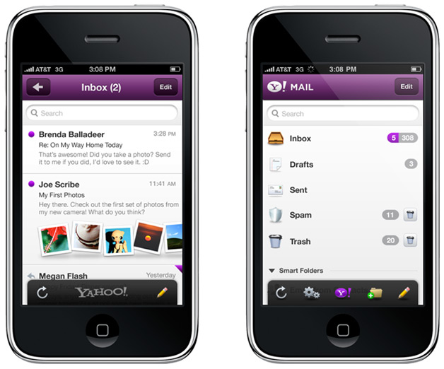Yahoo Mail for iPhone Gets an Upgrade