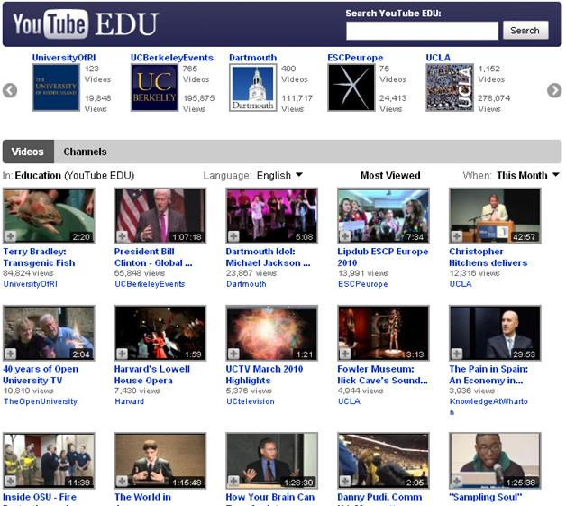 YouTube EDU - Turns One Year Old