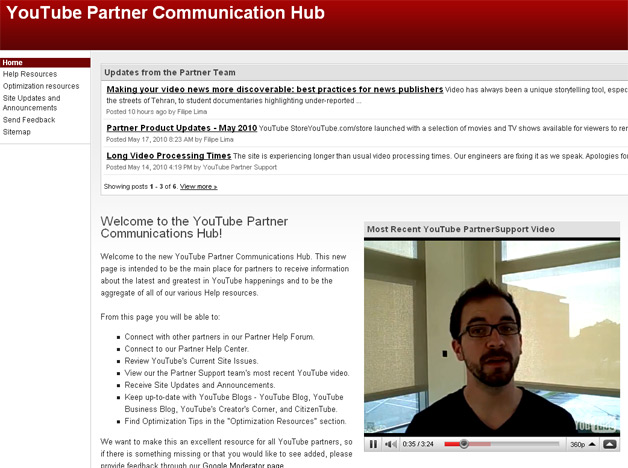 YouTube Launches Communication Hub for Partners