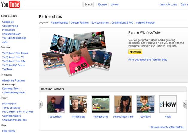 YouTube Partnerships