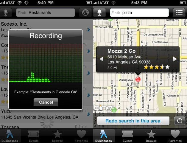 Yellow Pages iPhone App Gets Voice Search