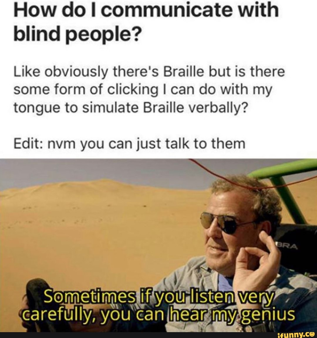 How Do I Communicate With Blind People Like Obviously There S