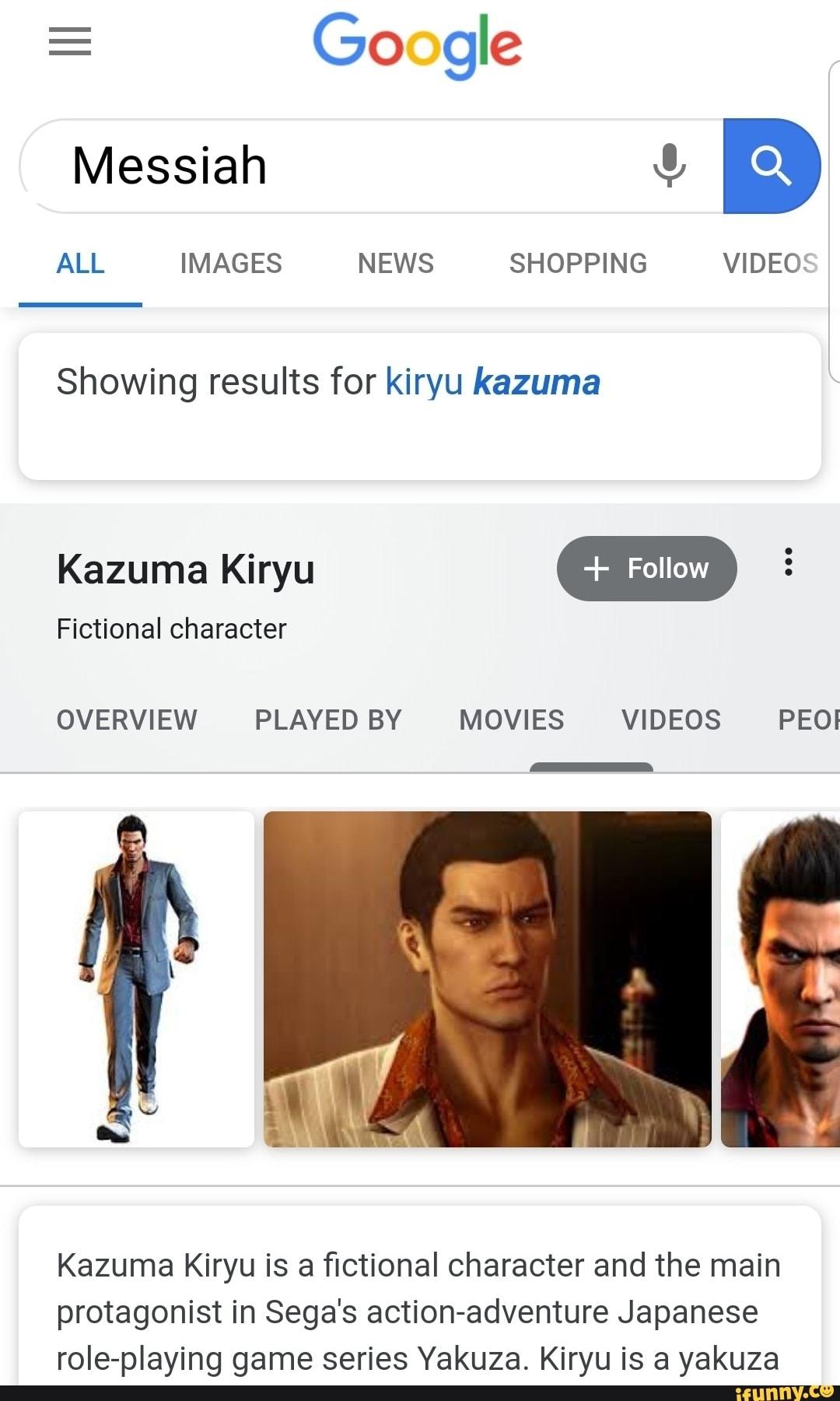 Messiah X Showing Results For Kiryu Kazuma Kazuma Kiryu E