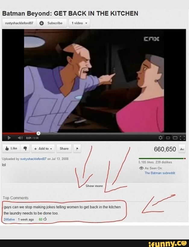Batman Beyond Get Back In The Kitchen Ifunny