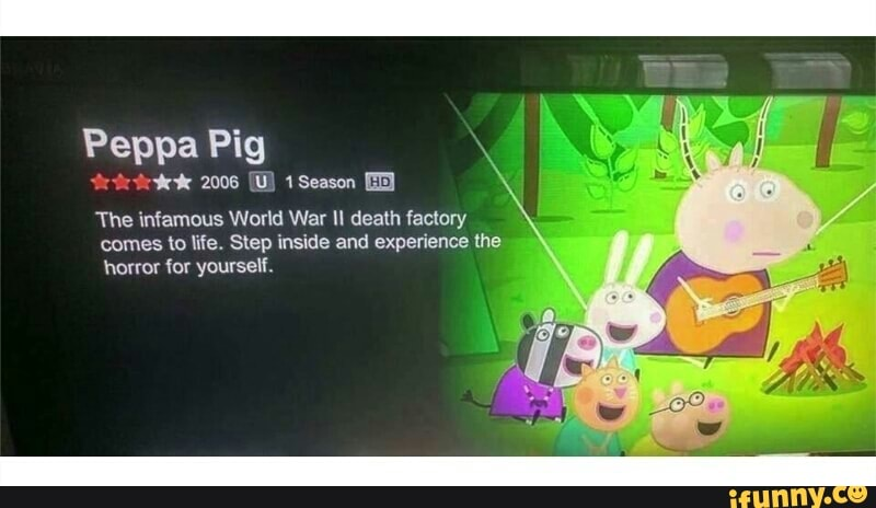 Peppa Pig The Infamous World War Ii Death Factory Horror Or