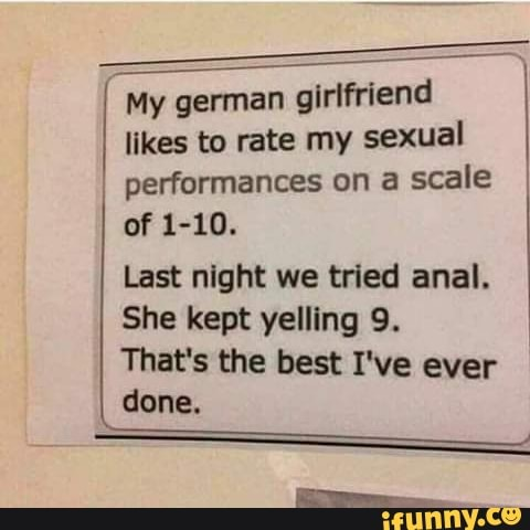 I Was Having Sex With My German Girlfriend She Kept Telling Me