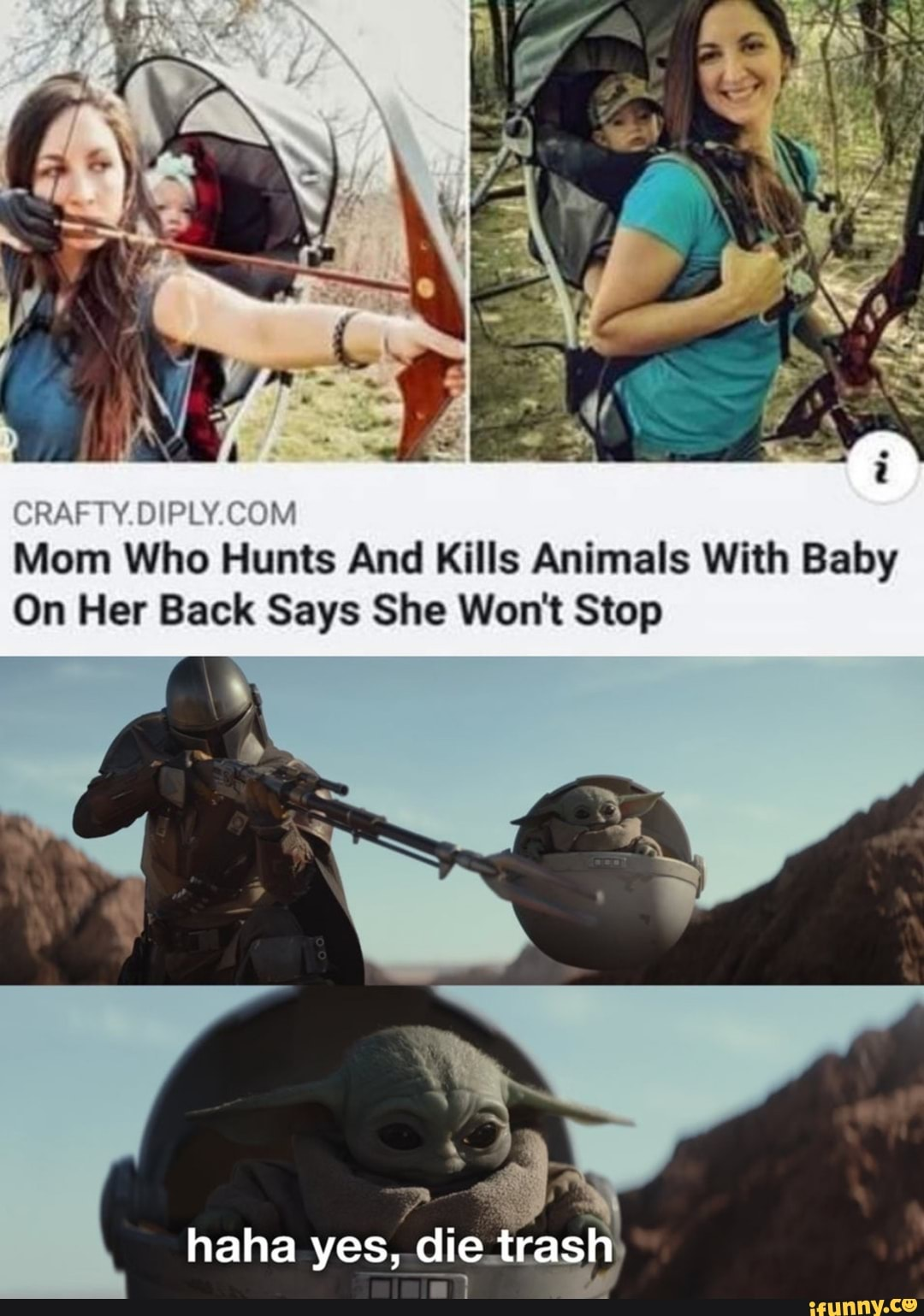 Crafty Diply Com Mom Who Hunts And Kills Animals With Baby On Her