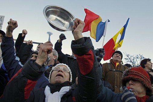 Protesty v Bukurešti