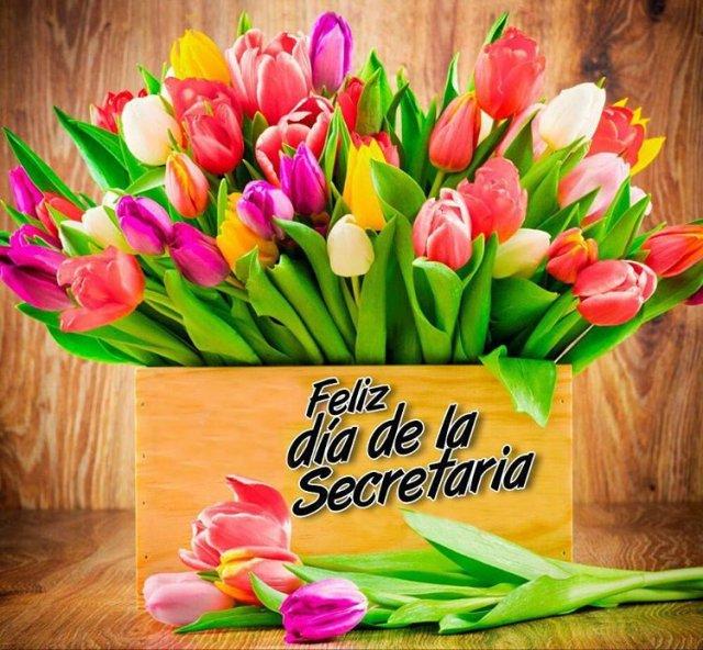 Resultado de imagen para flores para secretarias gif