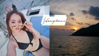 蘭卡威|搭帆船遊艇看海上夕陽吃BBQ。不曬太陽又舒服的行程推薦