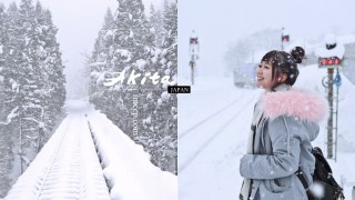 日本秋田|秋田美人線内陸線縱貫鐵道 / 秋田犬列車。冬季雪景美到無法呼吸