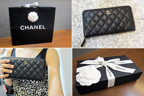 購物|Chanel經典荔枝皮拉鍊長夾,送給自己的生日禮物開箱文