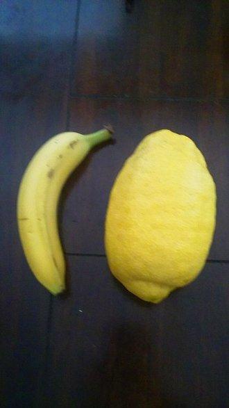 Plátano con limón