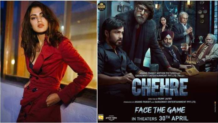 Rhea Chakraborty's 'Chehre' poster snub: Actress dropped from her upcoming  film with Amitabh ...