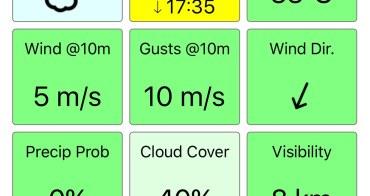 風速查詢APP-UAV forecast,空拍機玩家必備。