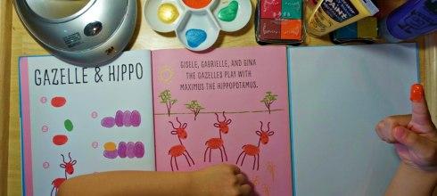 [居家感統遊戲]觸覺敏感的孩子 降敏又好玩的手指畫(顏料篇)