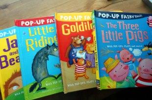 孩子的4本大尺寸童話立體書 PopUp Fairytales 三隻小豬、小紅帽、傑克與魔豆、金髮姑娘