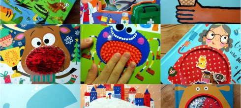 11月書單:怪怪觸覺書,感統動腦書,耶誕書單,角色扮演拼圖書盒, 繪本及童書
