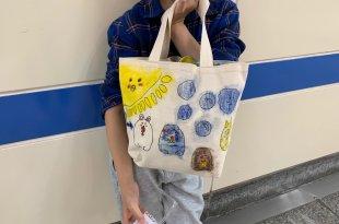 同大爺畫的角落生物小提包|英國Little Brian布料專用水彩棒,加點水更好玩