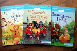 地表最強的雙發音童話讀本|Usborne English Readers:國王的新衣,薑餅人,美女與野獸