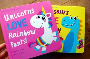 孩子自己拼故事 Unicorns LOVE Rainbow Pants!  故事創造拼卡書