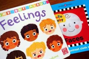 適合0-3歲的臉部情緒書單|Feelings情境與表情的翻翻書|和Hello Baby Faces 響紙布書