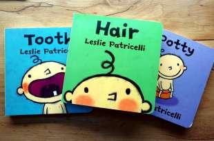 百萬媽媽好評的尿布小寶 Leslie生活行為硬頁書 剪頭髮,長牙了,坐馬桶, 還有好玩變色洗澡書