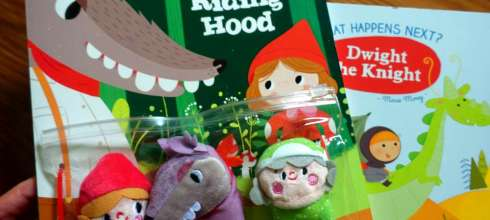 萌萌躂的Little Red Riding Hood手指偶書|還有讓孩子有8種決定的Dwight the Knight